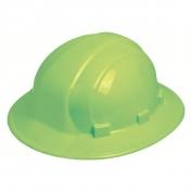 ERB 19920 Omega II Full Brim Hard Hat - 6-Point Ratchet Suspension - Hi-Viz Lime