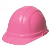 ERB 19989 Omega II Hard Hat - 6-Point Ratchet Suspension - Hi-Viz Pink