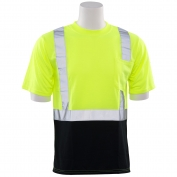 ERB 9604S Class 2 Black Bottom Moisture Wicking Safety Shirt - Yellow/Lime
