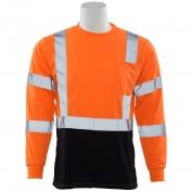 ERB 9804S Class 3 Black Bottom Moisture Wicking Safety Shirt - Orange