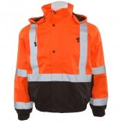 ERB W106 Class 2 Black Bottom Safety Jacket - Orange/Black