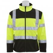 ERB W650 Class 2 Men\\\'s Soft Shell Safety Jacket - Yellow/Black