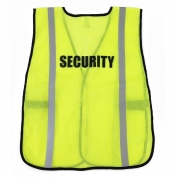 Ergodyne Pre-Printed SECURITY Safety Vest - Yellow/Lime