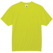 Ergodyne GloWear 8089 Non-Certified Safety T-Shirt - Yellow/Lime