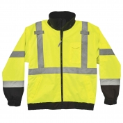 Ergodyne GloWear 8379 Class 3 Economy Bomber Jacket - Yellow/Lime