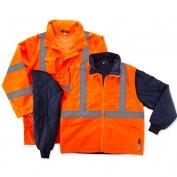 Ergodyne GloWear 8385 Class 3 4-in-1 Jacket - Orange