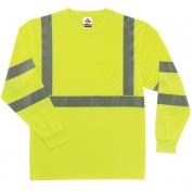 Ergodyne GloWear 8391 Class 3 Long Sleeve Safety Shirt - Yellow/Lime