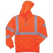 Ergodyne GloWear 8393 Class 3 Hooded Sweatshirt - Orange
