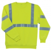 Ergodyne GloWear 8397 Class 3 Safety Sweatshirt - Yellow/Lime
