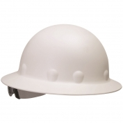 Fibre Metal P1ARW Full Brim Roughneck Hard Hat - Ratchet Suspension - White