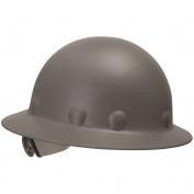 Fibre Metal P1ARW Full Brim Roughneck Hard Hat - Ratchet Suspension - Gray