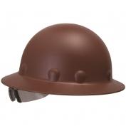 Fibre Metal P1ARW Full Brim Roughneck Hard Hat - Ratchet Suspension - Brown