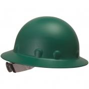 Fibre Metal P1ARW Full Brim Roughneck Hard Hat - Ratchet Suspension - Green