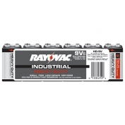 Rayovac Heavy Duty Industrial Size 9V Batteries 6 Pack