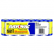 Rayovac Heavy Duty Industrial Size C Batteries 6 Pack