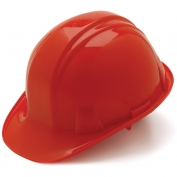 Pyramex HP14020 Hard Hat - 4-Point Snap Lock Suspension - Red