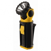 Krypton Yellow Swivel Flashlight with 2 AA Heavy Duty Batteries