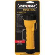 Rayovac Industrial 2D Yellow Industrial Flashlight with Krypton Bulb and Magnet