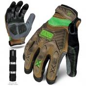 Ironclad EXO-PIG Project Impact Gloves - Includes 50 Lumen LED Flashlight