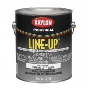 Krylon K42132920 Line-Up Bulk Solvent Based Pavement Striping Paint - 4-1 Gallon Pails - Parking Lot Yellow