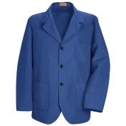 Red Kap Men\\\'s Lapel Counter Coat - Royal Blue