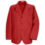 Red Kap Men\\\'s Lapel Counter Coat - Red
