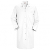 Red Kap Women\\\'s Button Front Lab Coat - White