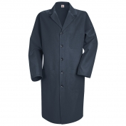Red Kap Mens Five Button Front Lab Coat - Navy