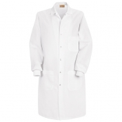 Red Kap Unisex Specialized Cuffed Lab Coat - Interior & Exterior Pockets