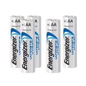 Energizer AA Lithium Batteries Case of 144 Batteries, 6 Sleeves of 24 Batteries per Case