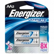 Lithium AA Batteries, Energizer e2, 2-pack