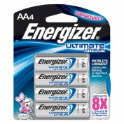 Energizer Lithium AA Batteries, e2, 4-pack