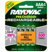 Rayovac Everyday Use Rechargeable AAA Batteries