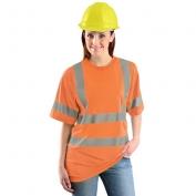 Occunomix LUX-SSETP3B Class 3 Wicking Birdseye Mesh Safety T-Shirt - Orange