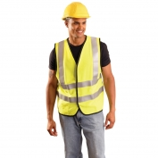 OccuNomix LUX-SSFG-FR Premium Solid Dual Stripe FR Safety Vest - Yellow/Lime