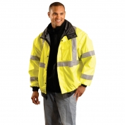 OccuNomix LUX-TJBJ Class 3 Premium 4-In-1 Bomber Jacket - Yellow/Lime