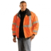 OccuNomix LUX-TJBJ Class 3 Premium 4-In-1 Bomber Jacket - Orange