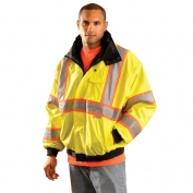 OccuNomix LUX-TJBJ2 Class 3 Premium 4-In-1 Two-Tone Bomber Jacket - Yellow/Lime