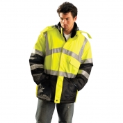 OccuNomix LUX-TJCW Class 3 Insulated Cold Weather Parka - Yellow/Lime