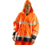 OccuNomix Class 3 Rain Jacket Orange