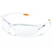 Crews Law 2 Safety Glasses - Clear Frame - Clear Anti-Fog Lens