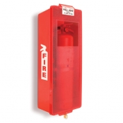Mark II Jr. Plastic Fire Extinguisher Cabinet Red Tub/Red Cover