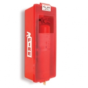 Mark II Indoor/Outdoor Plastic Fire Extinguisher Cabinet Red Tub w/ Red Cover