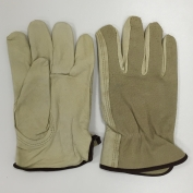 Memphis 3405 Select Grade Grain Pigskin Leather Driver Gloves - Keystone Thumb - Natural