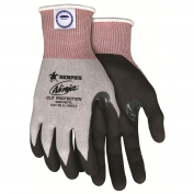 Memphis N9676DT Ninja Cut Resistant Gloves - 15 Gauge Dyneema Nylon/Fiberglass Shell - Breathable Nitrile Foam Coated Palm