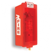 Mark Jr. Plastic Fire Extinguisher Cabinet Red Tub/Red Cover