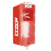 Mark Jr. Plastic Fire Extinguisher Cabinet Red Tub/Clear Cover