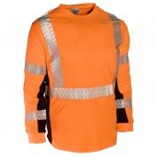 ML Kishigo 9135 Black Series Class 3 Long Sleeve T-Shirt - Orange
