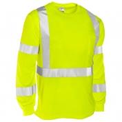 ML Kishigo 9145 Economy Series Class 3 Long Sleeve T-Shirt - Yellow/Lime
