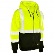 ML Kishigo F407 Black Series FR Sweatshirt Hoodie - Yellow/Lime